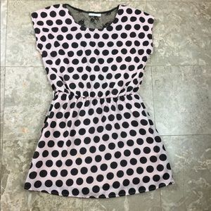 Kling Dress Sz 2 Pink Black Polka dot
